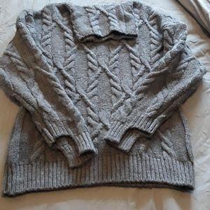 EUC grey Zara knit turtleneck